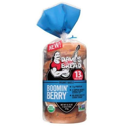 Dave's Killer Bread Organic Boomin Berry Bagels - 16.75 oz