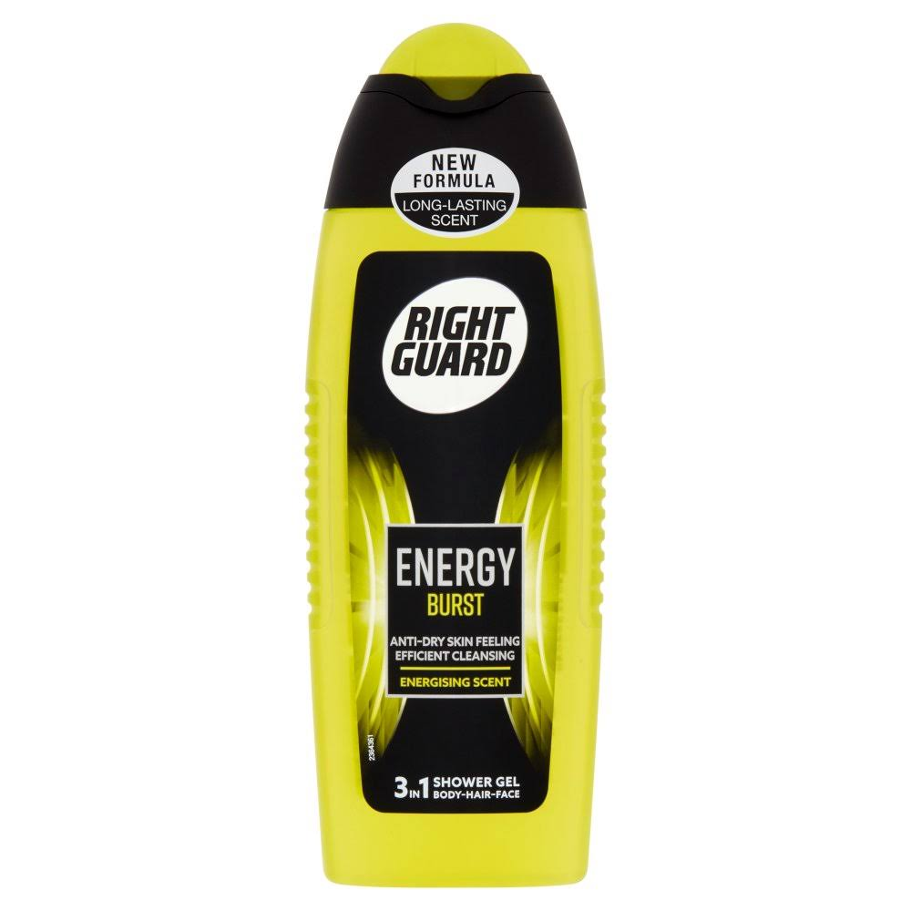 Right Guard 3 in 1 Energy Burst Shower Gel 250ml
