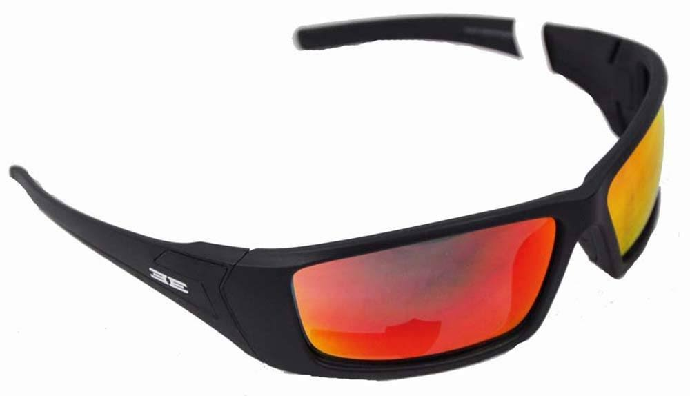 Epoch Eyewear 3 Sunglasses - Black, With Red Mirror Lens
