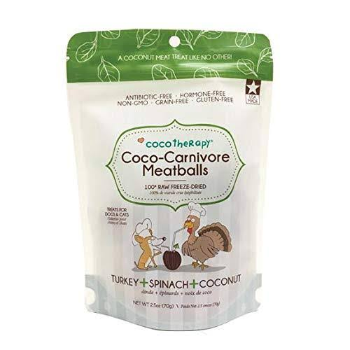 CocoTherapy Coco-Carnivore Meatballs (Turkey) Dog Treats