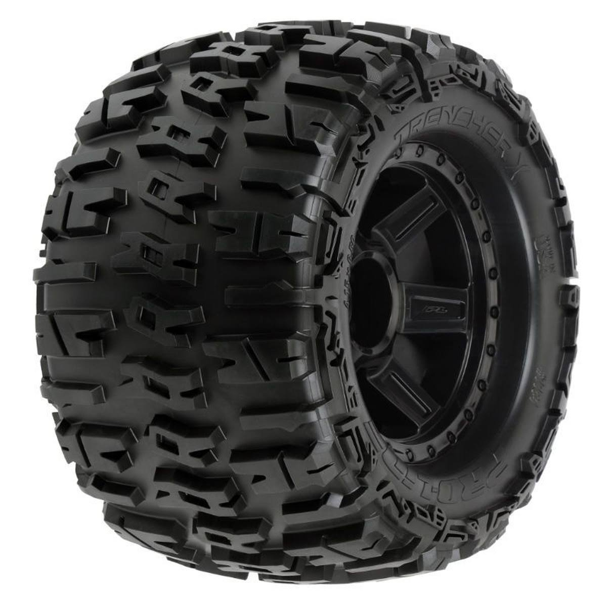 Proline 118411 Trencher 3.8 All Terrain Tire Mounted - Desperado Black Wheels
