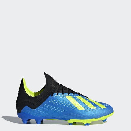 Adidas x 18.1 FG Junior Soccer Cleats Blue-Yellow - 5.5