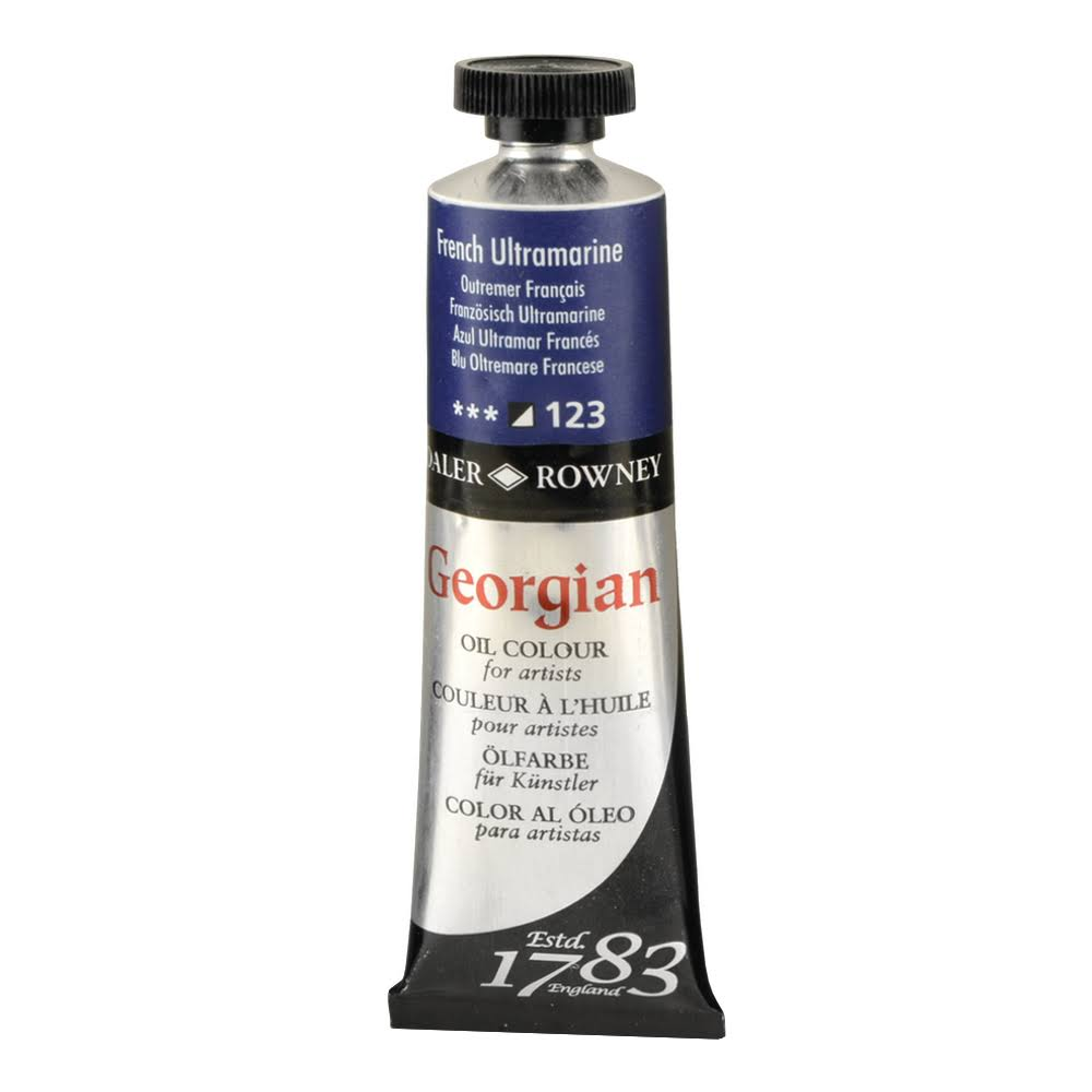 Daler Rowney Georgian Oil Color Paint - French Ultramaine Blue, 38ml