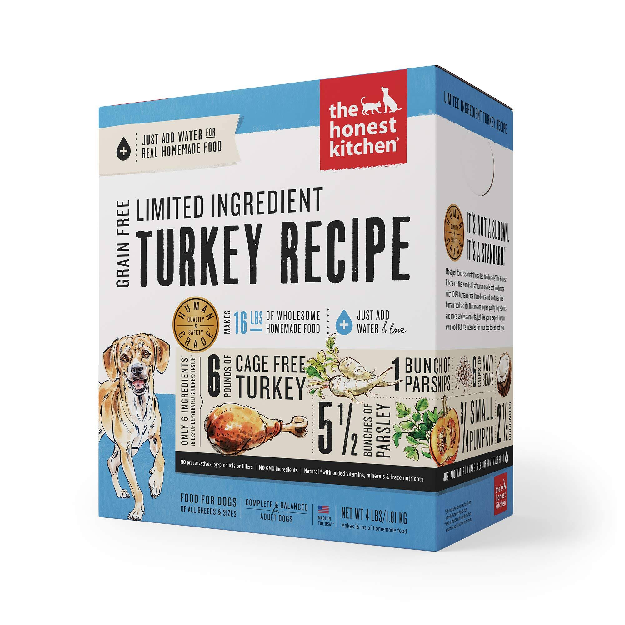 The Honest Kitchen Marvel Grain Free Dog Food - Turkey & Parsnip, 4lb