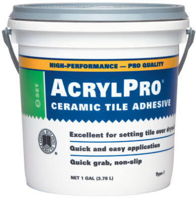 Custom Building Products Acrylpro Ceramic Tile Adhesive - 3.78l