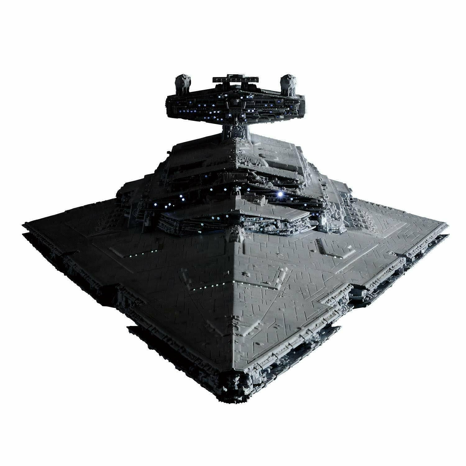 Bandai Hobby Star Wars Star Destroyer Lighting Model Kit - 1/5000 Scale