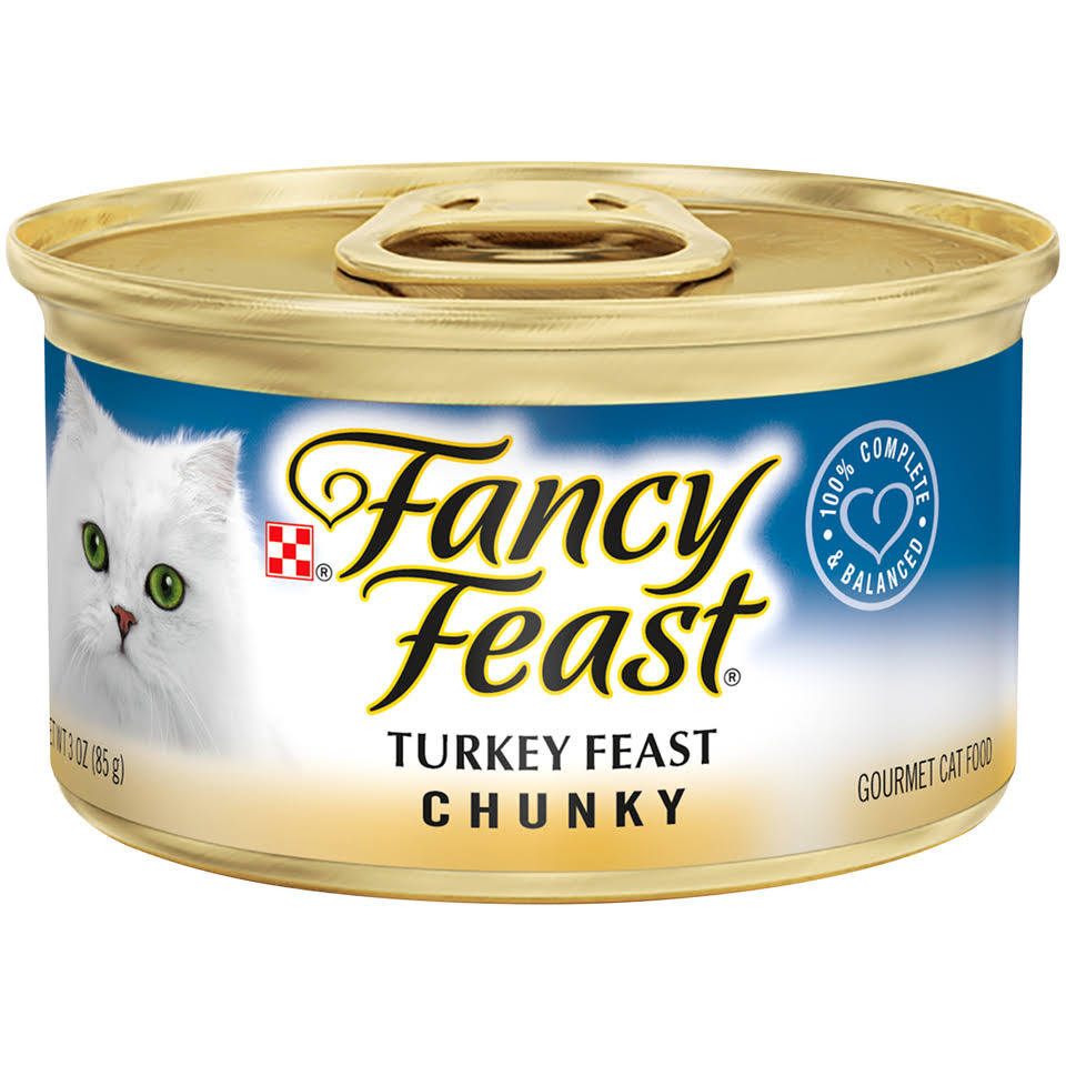 Purina Fancy Feast Cat Food - Turkey Feast Chunky Gourmet, 3oz