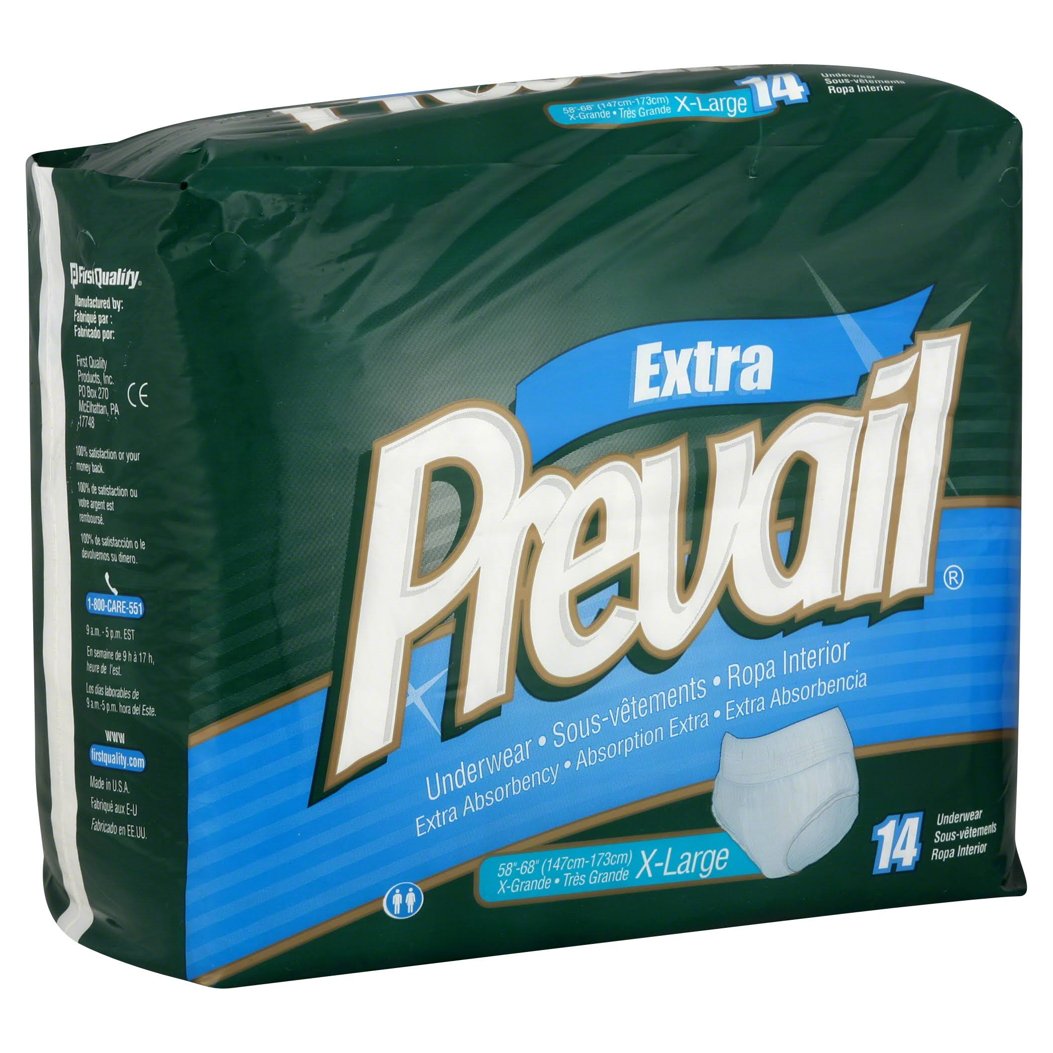 Prevail Protective Underwear - X-Large, 14 Underwear