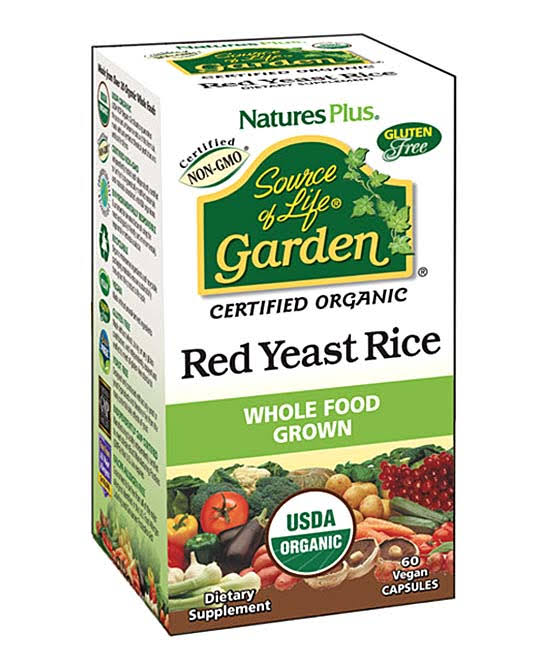 Nature's Plus Source of Life Garden Organic Red Yeast Rice - 60 Vegan Caps