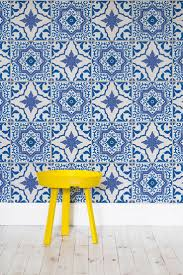 Moroccan Tile Curtain Panels by Best 25 Tile Wallpaper Ideas On Pinterest Moroccan Tiles