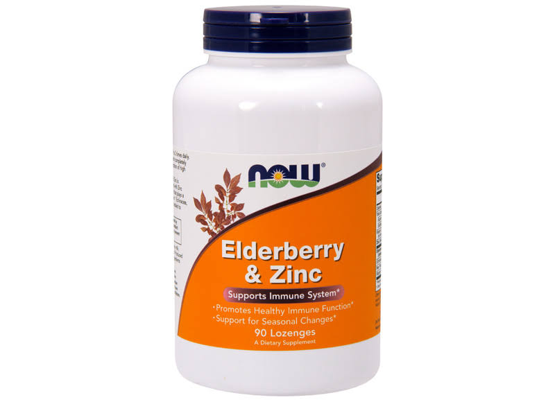 Now Foods Elderberry & Zinc - 90 Lozenges