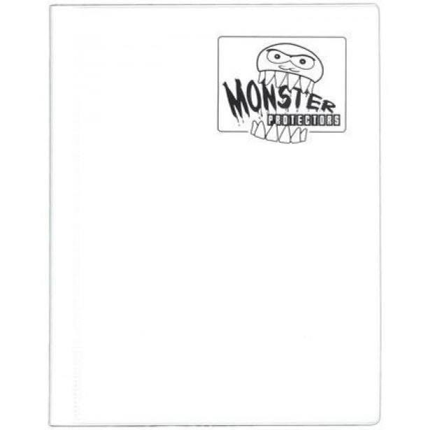 Monster Binder: 4 Pocket - Matte White
