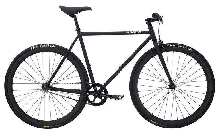 Pure Fix Cycles Fixed Gear Single Speed Urban Fixie Road Bike - Juliet Matte Black, 54cm