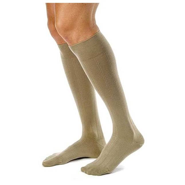 Jobst Men's Casual Closed Toe Knee High Socks - Khaki, Large