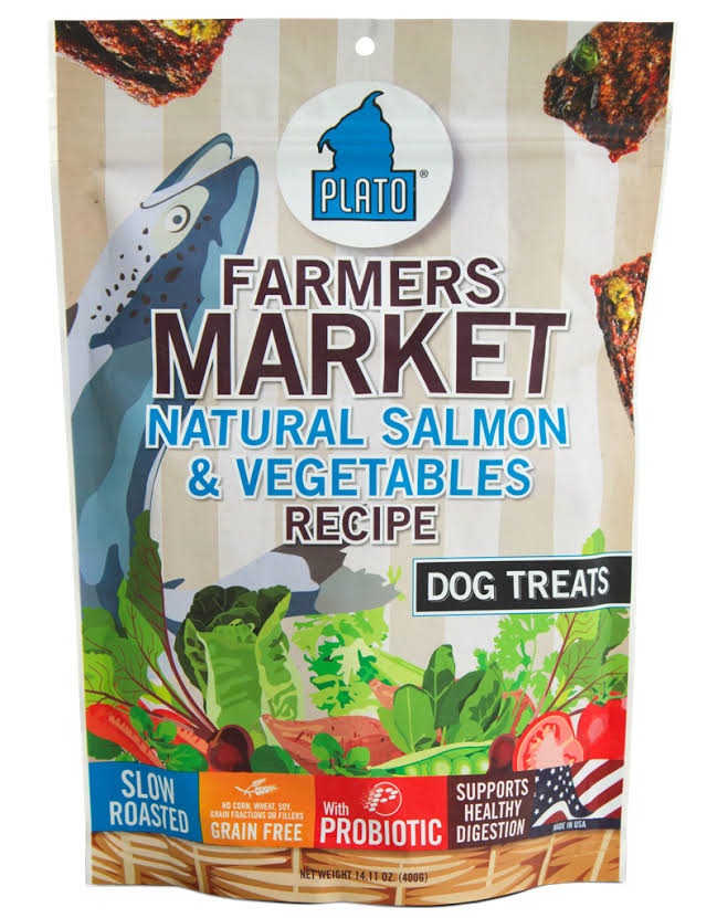Plato Dog Treats - Farmers Market Salmon and Vegetables