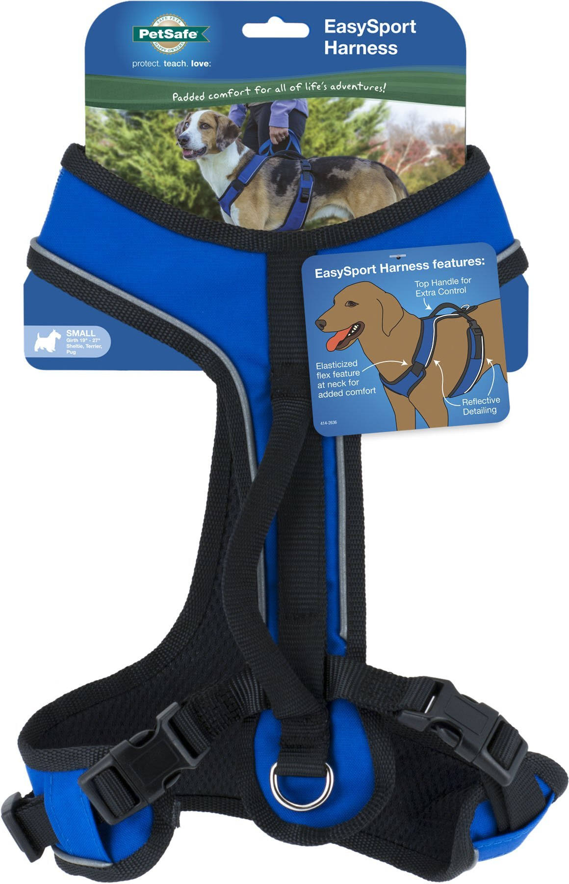 PetSafe EasySport Dog Harness - Small, Blue