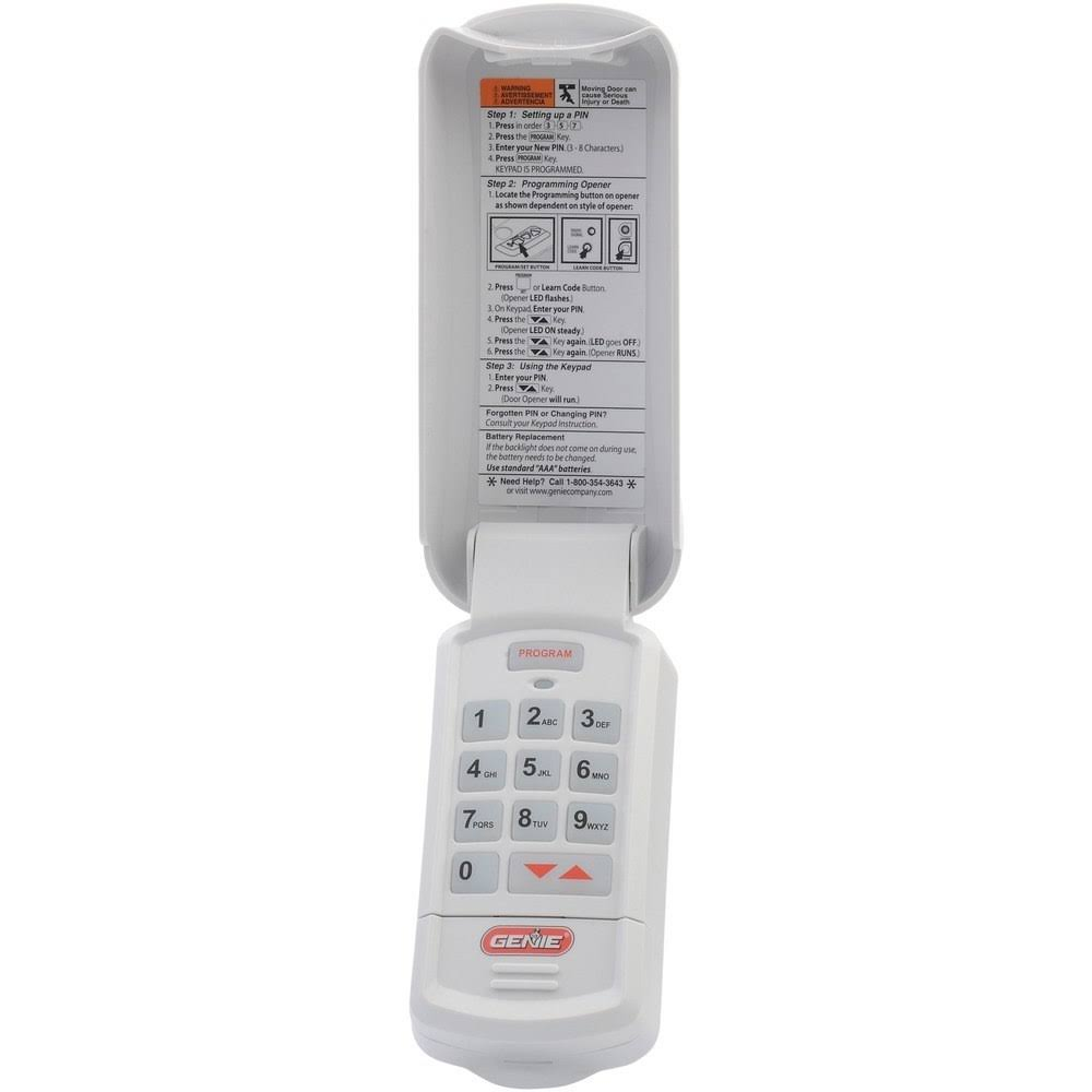 Genie Garage Door Opener Remote Keypad Entry - Wireless, Keyless