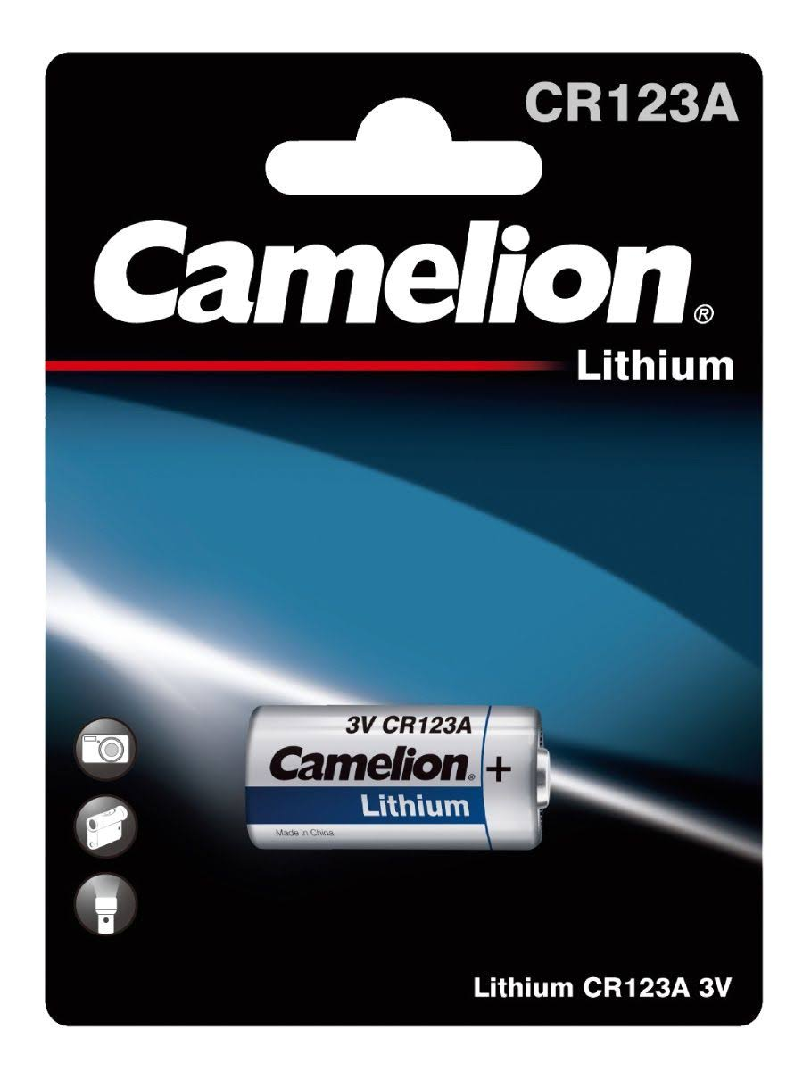 Camelion Hi Energy Lithium CR123A Battery - 3V
