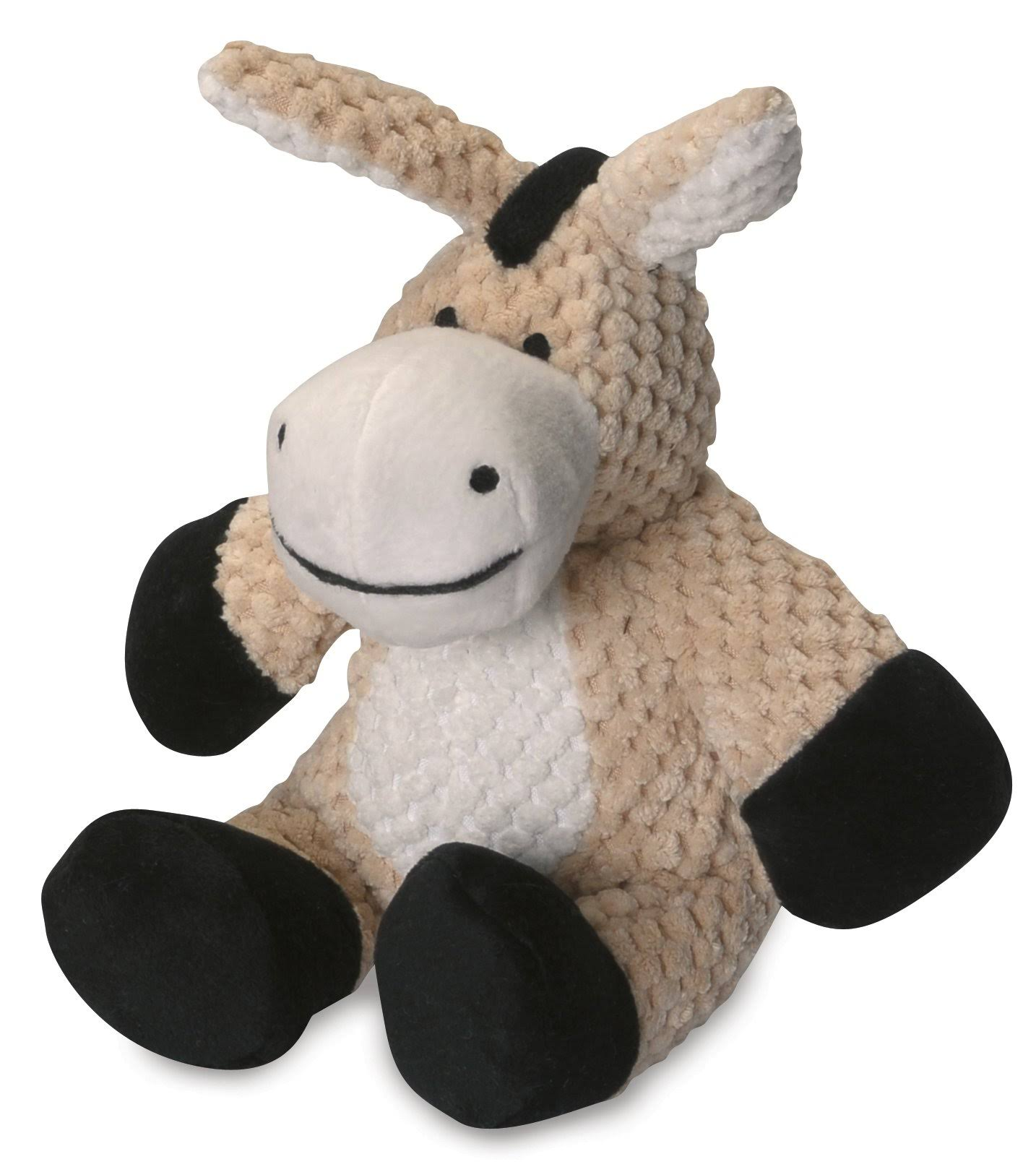 goDog Checkers with Chew Guard Technology Tough Plush Dog Toy - Donkey