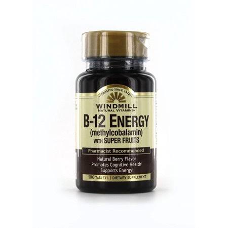 Windmill Vitamin B-12 Energy with Super Fruits Tablets 100 EA