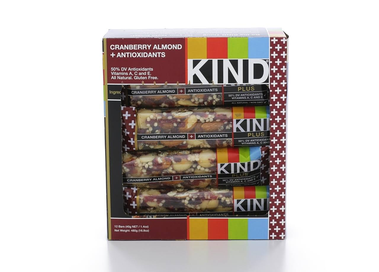 Kind Plus Bar - Almond Walnut Macadamia, 12 Bars