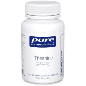 Pure Encapsulations L theanine Dietary Supplement - 200mg, 120 Capsules