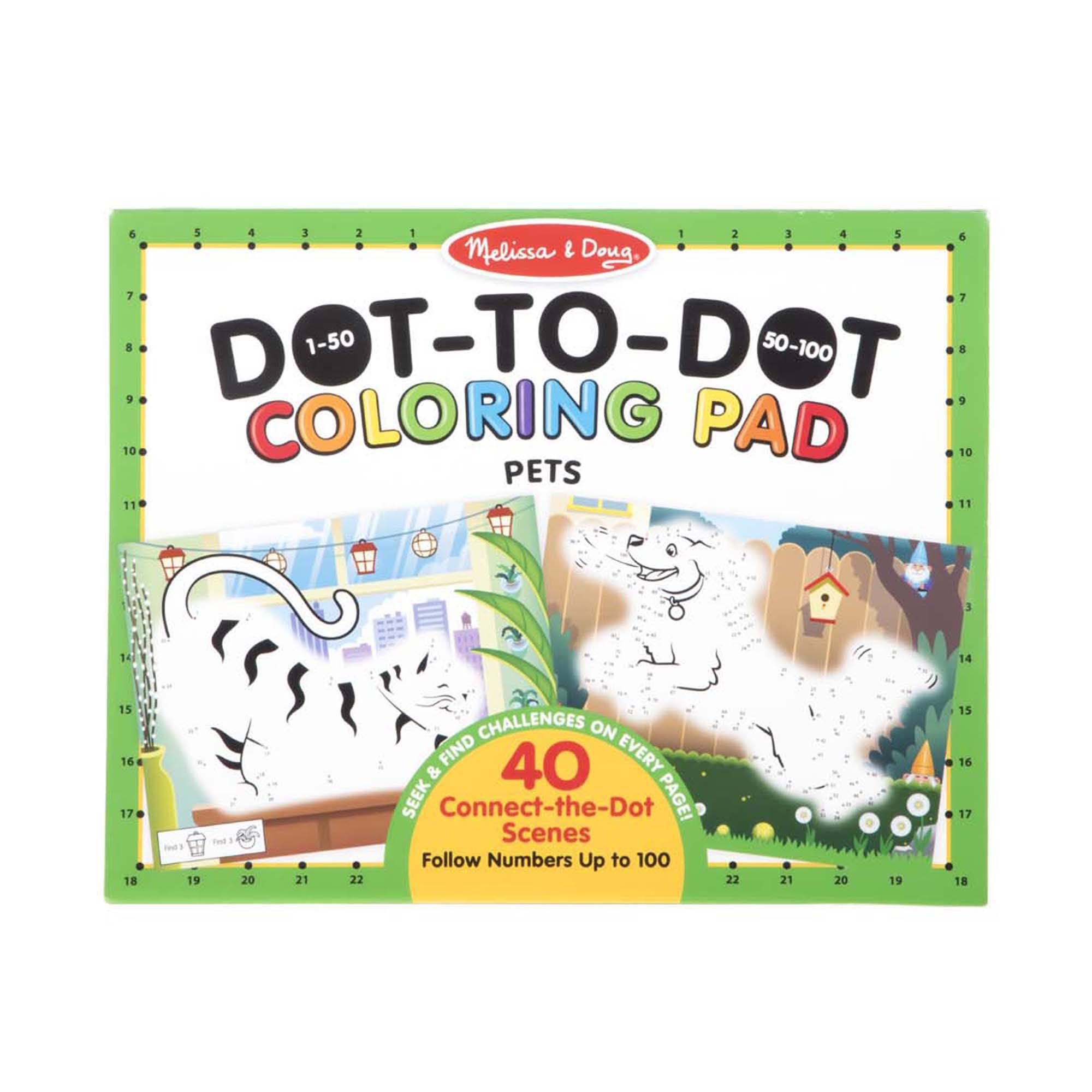 Melissa & Doug 123 Dot-to-Dot Coloring Pad