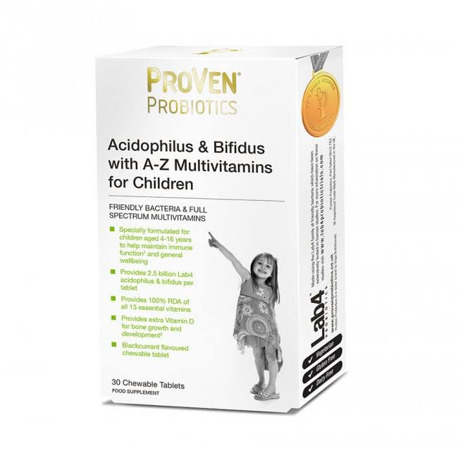 ProVen Childrens Probiotics Acidophilus and Bifidus with A-Z Multivitamins Chewable Tablets - 30ct