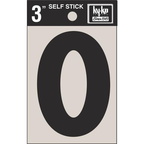 Hy-Ko Self-Adhesive Vinyl Letter O - Black, 3in