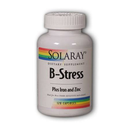 Solaray B-stress Plus Iron and Zinc Supplement - 120 Count