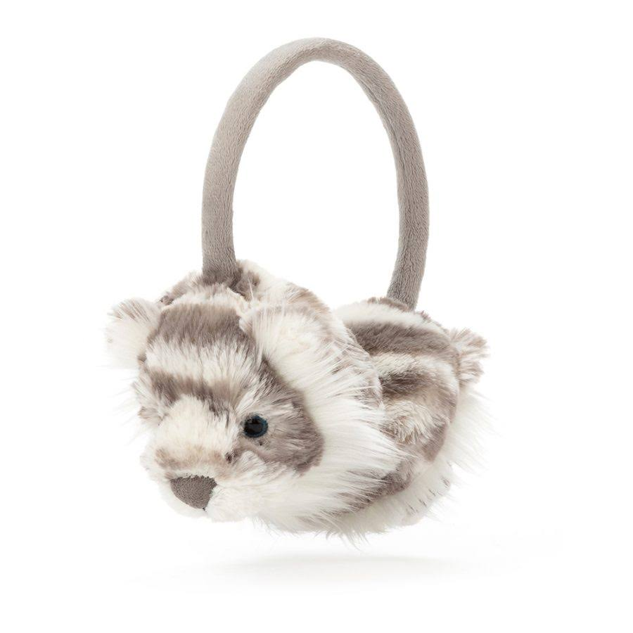 Jellycat Sacha Snow Tiger Ear Muffs - SAC3EM