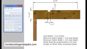 Engineered Floor Joists Uk by How To Calculate Floor Joist Notch And Hole Sizes U2013 Construction