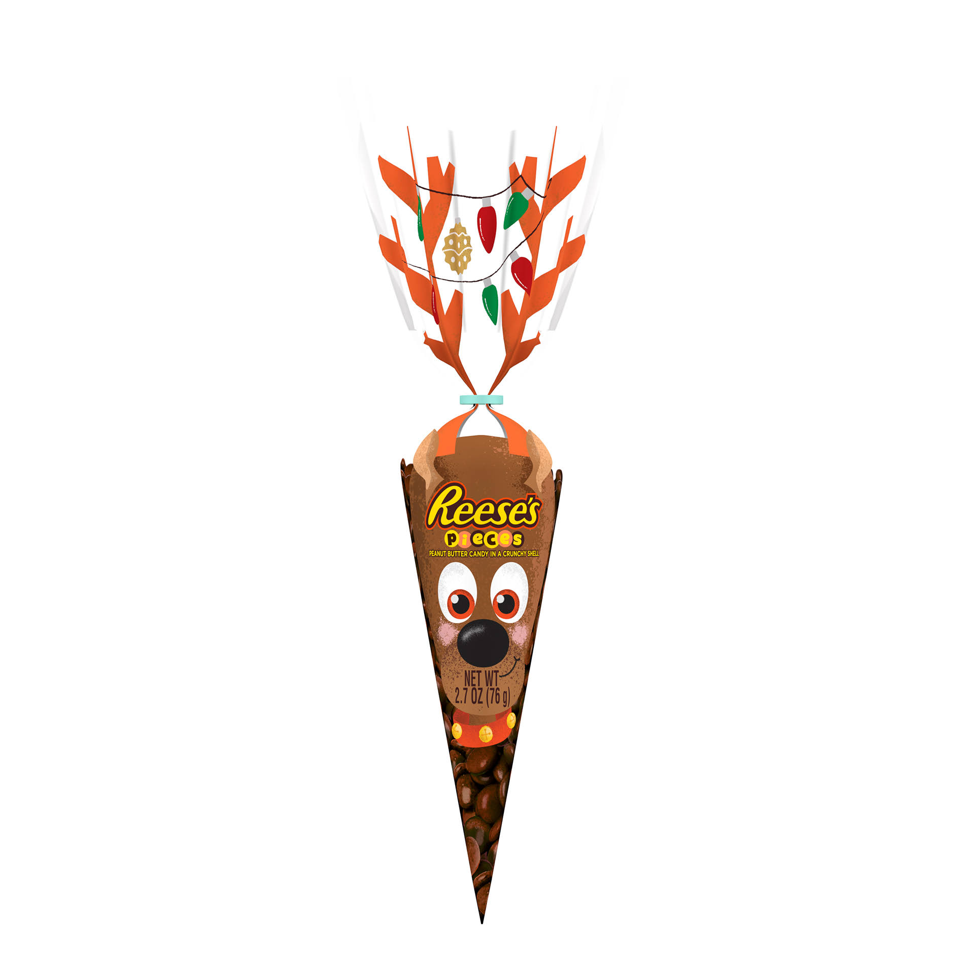 Reese's Pieces Holiday Candy In Reindeer Bag - 2.7oz