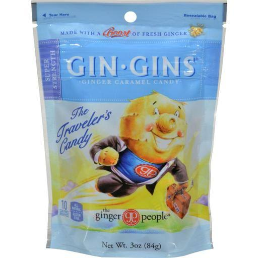 Ginger People Gin Gins Boost Ginger Chews - 3 oz bag