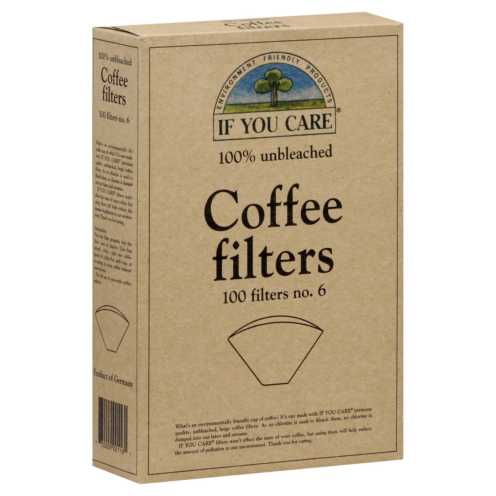 If You Care Coffee Filters - 100 Filter, Number 6