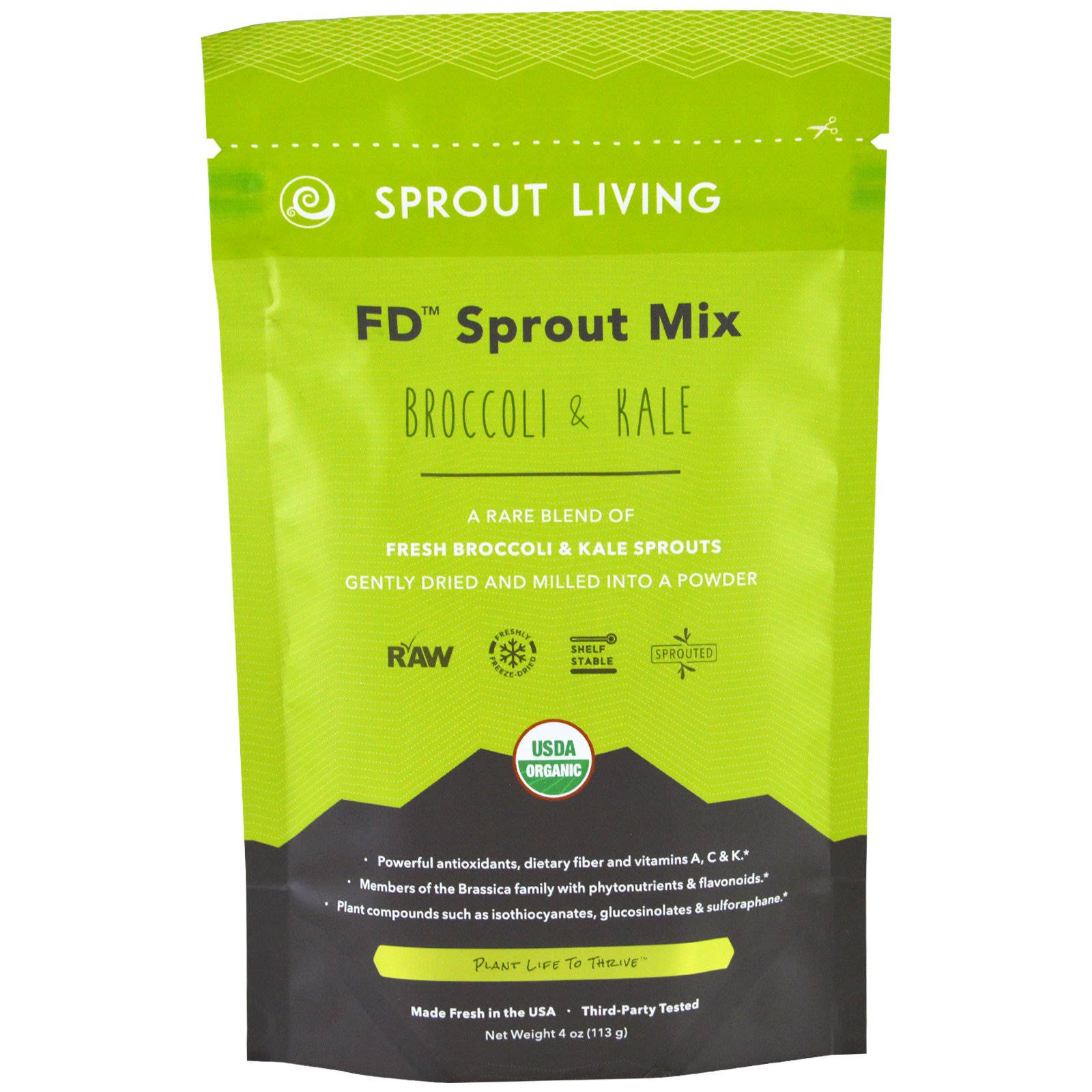 FD Sprout Mix - Broccoli and Kale, 4oz