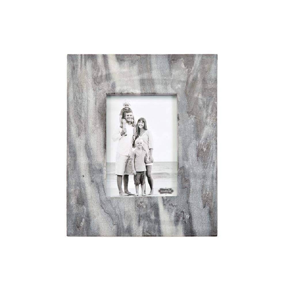 Mud Pie Large Frame Gray Marble Raw Edge Frame
