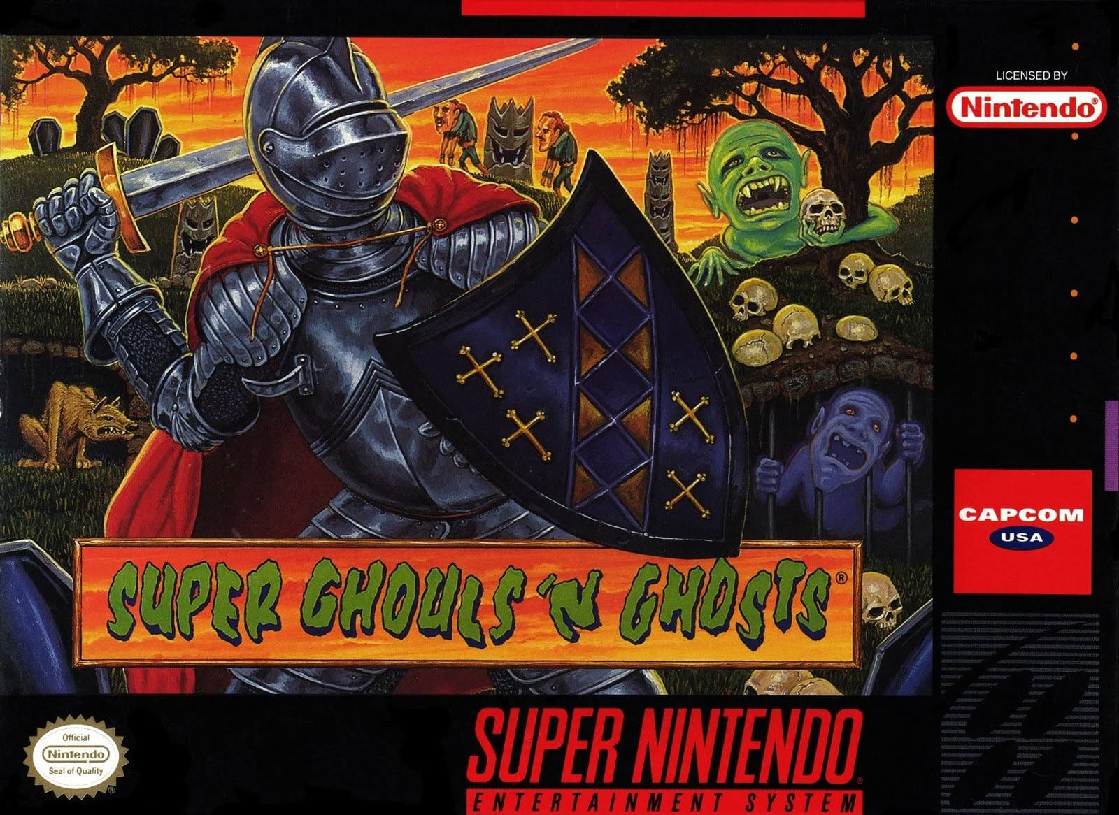 Super Ghouls 'N Ghosts - Super Nintendo Entertainment System