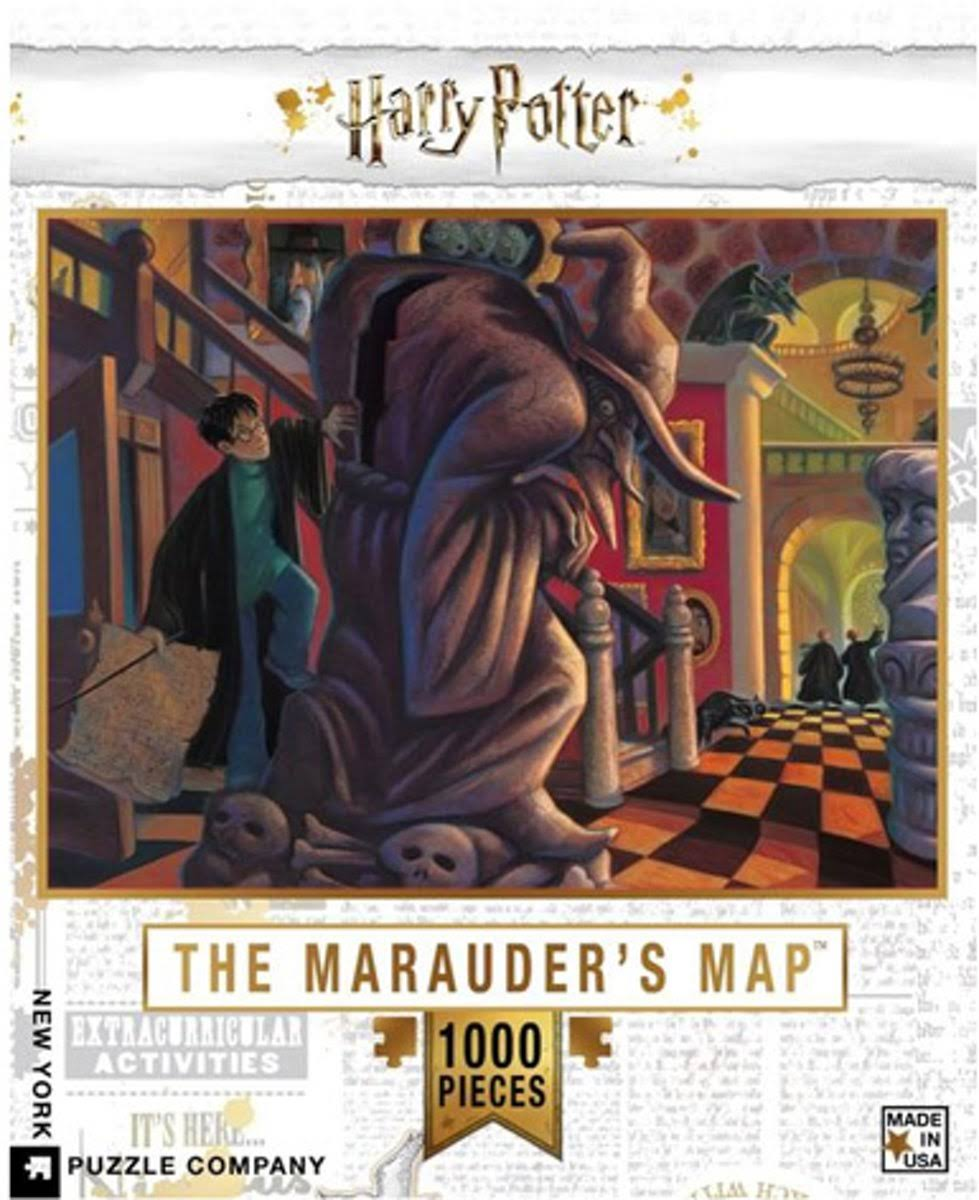 New York Puzzle Company - Harry Potter The Marauder's Map - 1000 Piece Jigsaw Puzzle