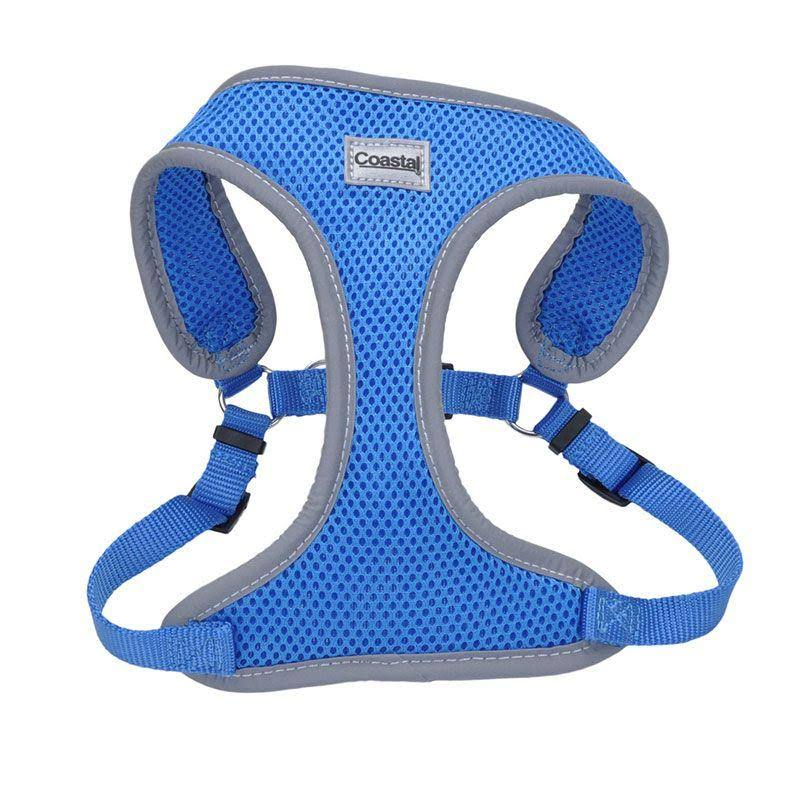 Coastal Pet Reflective Adjustable Dog Harness - Blue, 5/8in x 19in