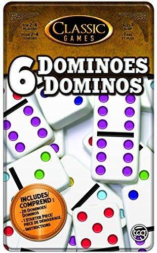 Classic Games Dominoes Board Game - 28 Pieces