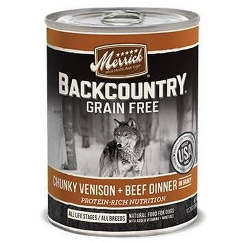 Merrick Backcountry Grain Free Dog Food - Chunky Venison/Beef Dinner