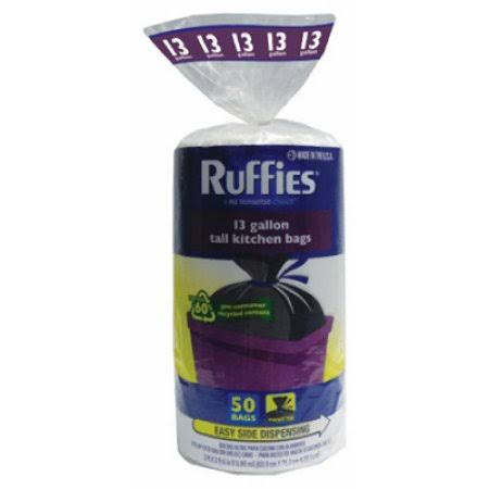 Ruffies Trash Bag - 13 Gallon, 50 Count