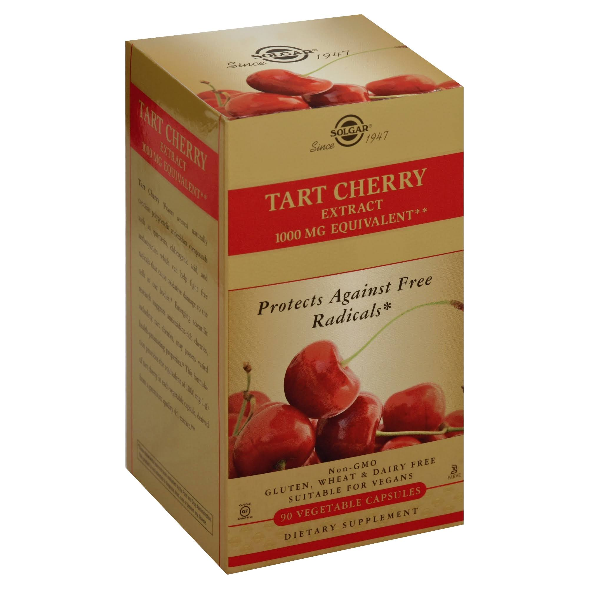 Solgar Tart Cherry 1000mg Dietary Supplement - 90 Capsules