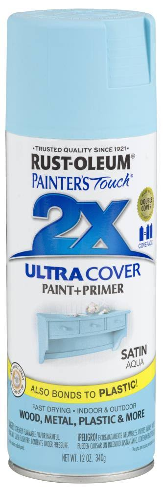 Rust-Oleum Painter's Touch Ultra Cover Paint & Primer Spray - Satin Aqua