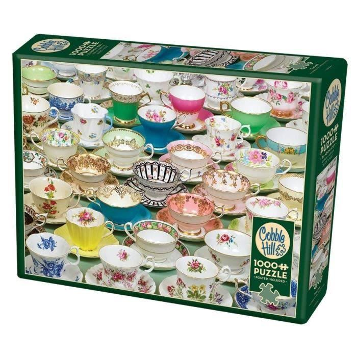 Cobble Hill Tea Cups Jigsaw Puzzle - 1000pcs