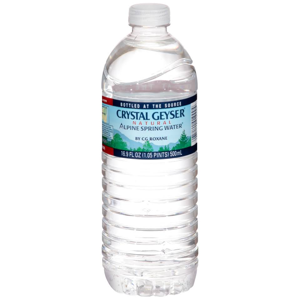 Crystal Geyser Natural Alpine Spring Water, 16.9 oz Bottle, 35-carton