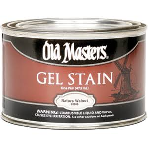 Old Masters Oil Based Gel Stain - 816 Natural Walnut, 1pt