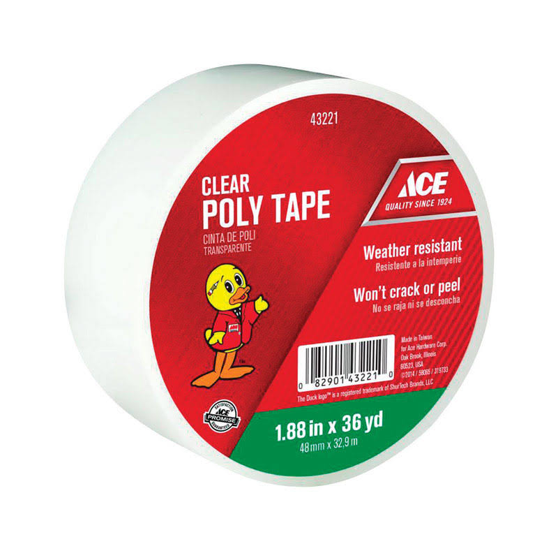 Ace Poly Tape - Clear, 48mm x32.9m