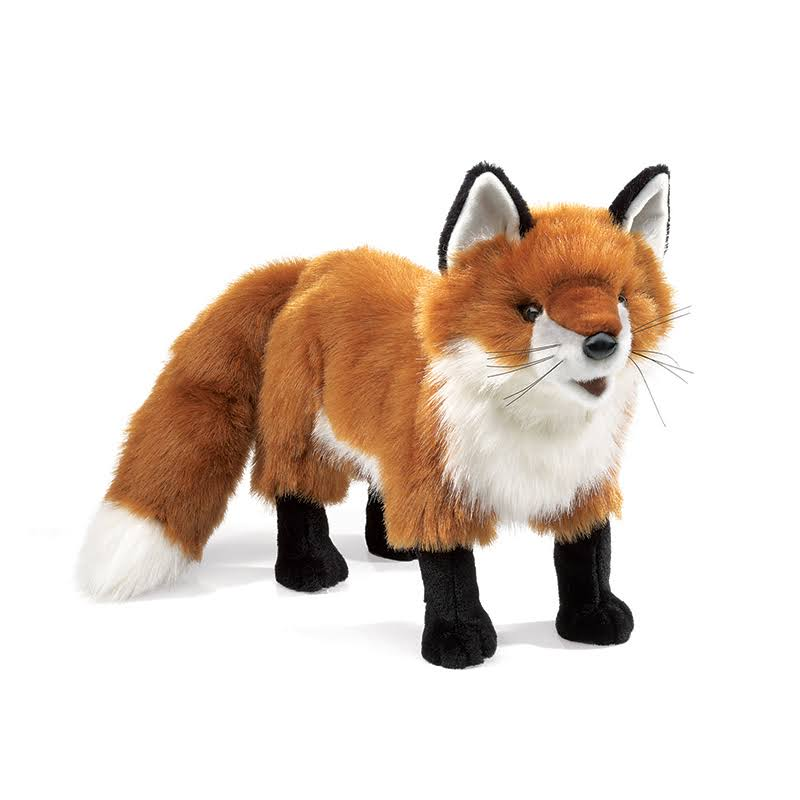 Folkmanis Standing Red Fox Puppet - 46cm